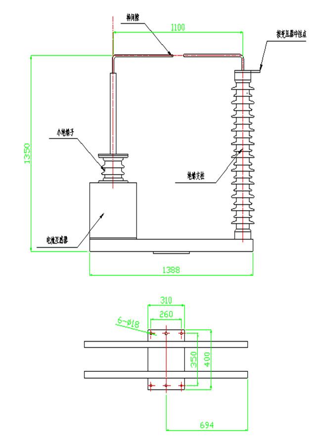 我公司生产的BGW-NDI型中性点间隙保护装置是严格按照GB311.1-1997《高压输变电设备的绝缘配合》、DL/T620-1997《交流电气装置的过电压保护和绝缘配合》、《十八项电网重大反事故措施》(国家电网公司)等国家及行业标准的有关规定设计、制造新一代产品。专用于110kv和220kv电力变压器中性点回路,实现变压器中性点接地或不接地两种不同的运行方式。从而避免由于系统故障,引起变压器中性点电压升高造成对变压器的侵害。